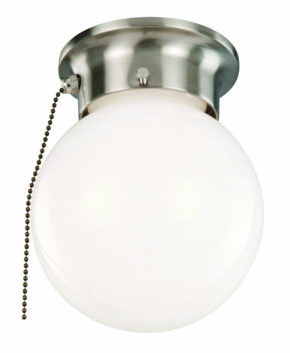 amazoncom design house 1 light ceiling light with pull chain satin nickel home improvement