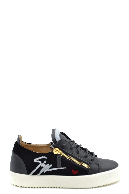 - GIUSEPPE ZANOTTI DESIGN Women's MCBI37295 Black Leather Sneakers