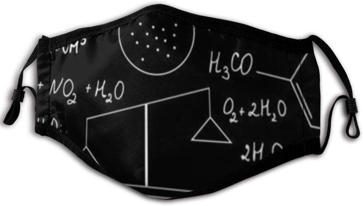 """Maske mit """"Chemische-Formeln""""-Motiv"""