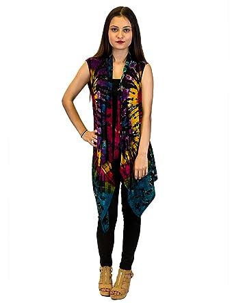 Royal Handicrafts Tie Dye Vest Bwj004 At Amazon Women S Coats Shop