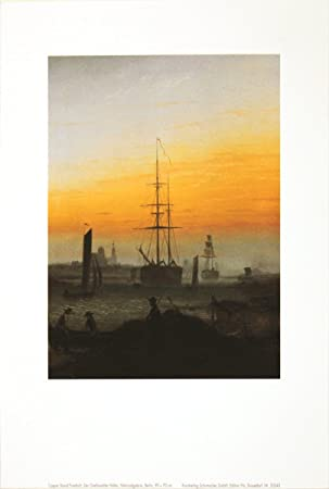 80x60cm Caspar David Friedrich #53292 Neubrandenburg Poster