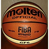 Molten Basketball GF6 Official FIBA Indoor Composite, Size 6 (Round, 6)