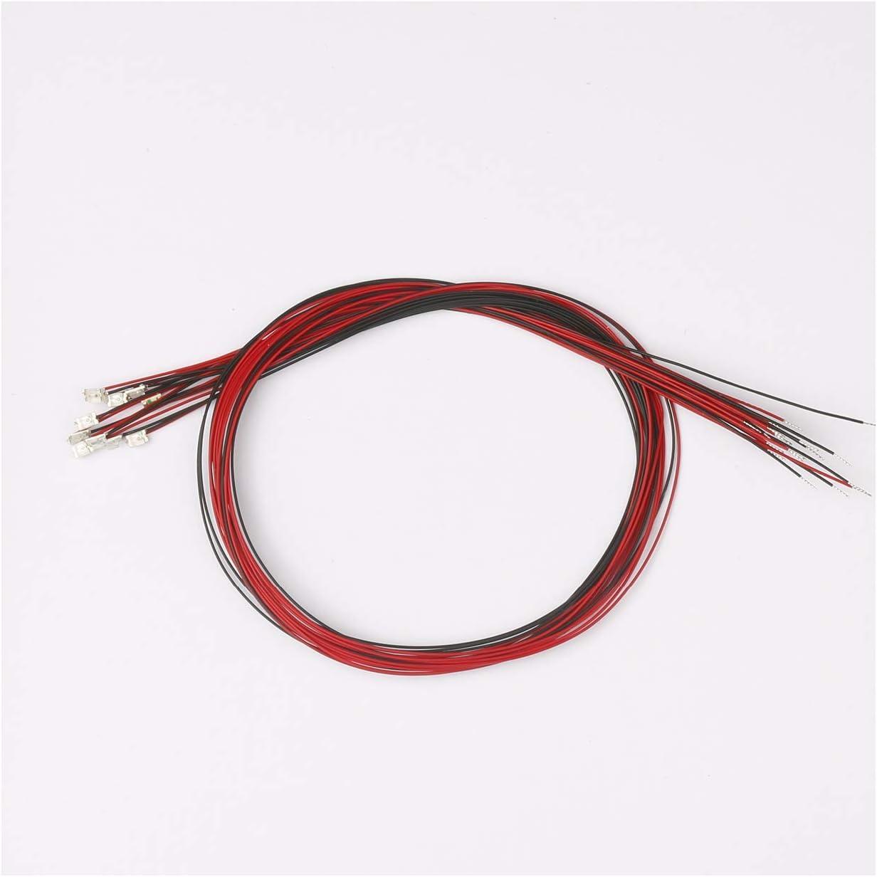 Mini LED verschwei/ßt f/ür Dekoration von Spielzeug 20 St/ück vorverdrahtet 0805 rot SMD LED Leuchtdiode DC 2 V Micro Litz L/änge 7,8 Zoll 20 cm Handwerk