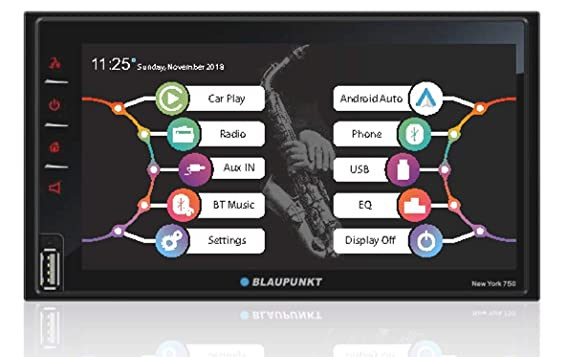 "Blaupunkt New York 750 6.75"" Capacitive Touchscreen/Android Auto/Wireless Apple Car Play/USB/Aux/BT Car Media Player Car Stereos at amazon"