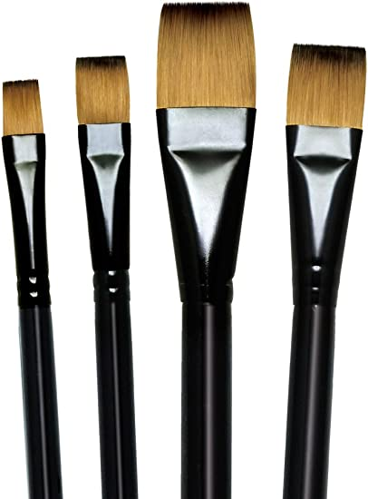 watercolour acrylic artists brushes round flat majestic brush royal langnickel