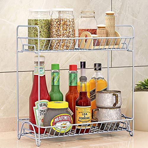 FDS Marketing LLC 2 Tier Standing Rack- Kitchen Bathroom Countertop Storage Organizer! Shelf Holder Spice Rack Organizer