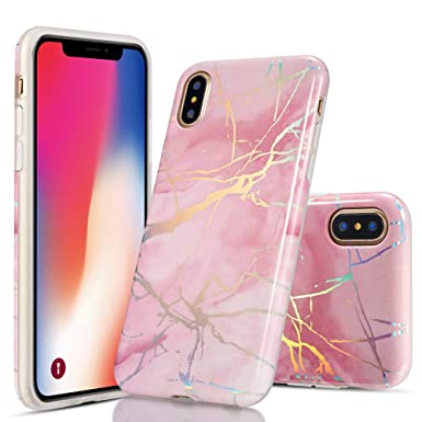 online store fcc9e 34da7 QLTYPRI iPhone XS Max Marble Case, Ultra Slim Silicone Case Soft TPU Bumper  Fit Shockproof Anti Scratch Protective Rubber Case Cover for iPhone XS Max  ...