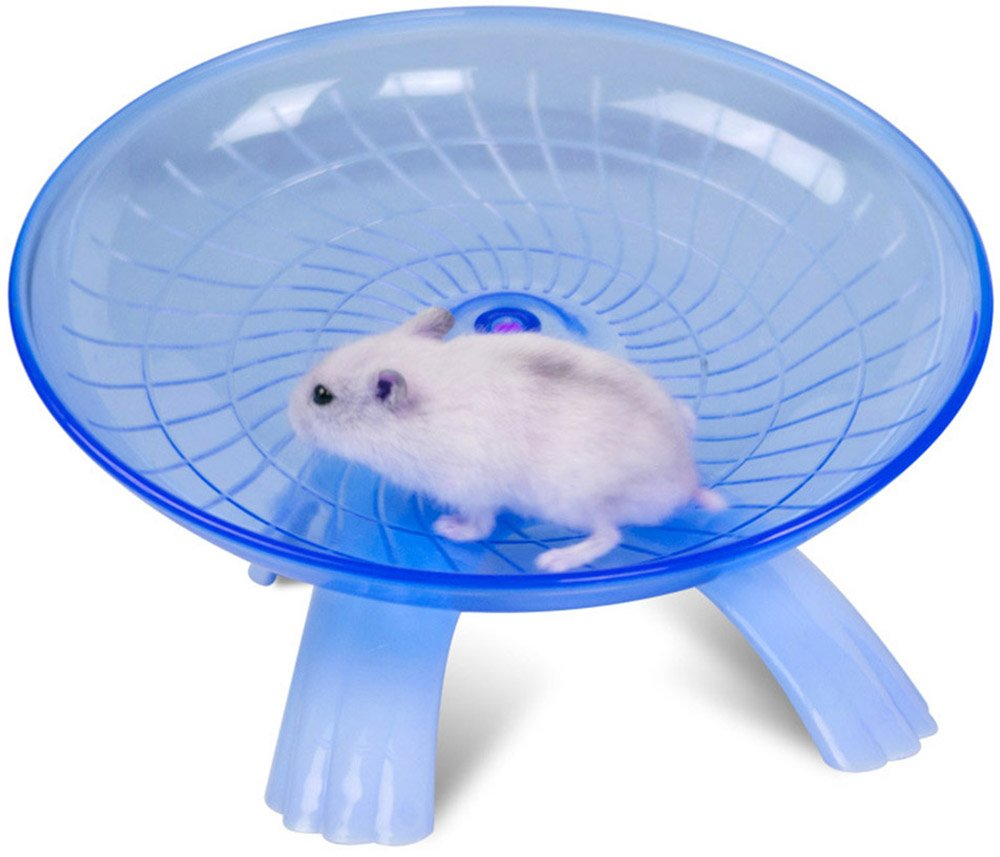 Small Animals Flying Saucer Exercise Wheel For Hamster Ramdon Color By PetsMostHome