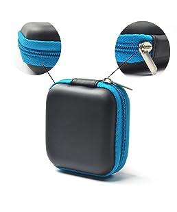 Xiton Storage Case Mini Quadrato per Cuffia Auricolare Auricolari Cavo USB di deviazione Standard TF Card Bag Black