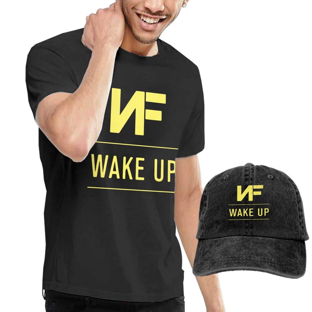 WWTBBJ-B NF Wake Up Adult Mens Summer T-Shirt and Sport Jean Headgear