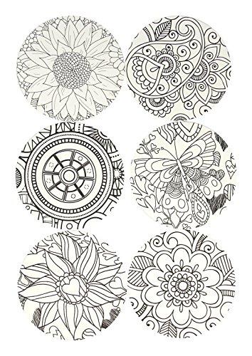 Color Joy Coloring Products, Drink Coasters, 6 Designs
