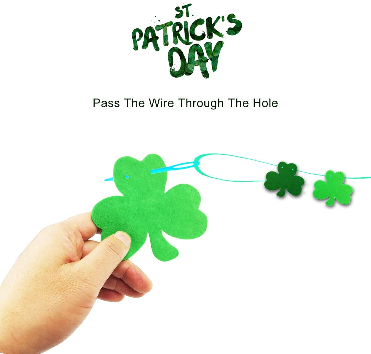 St St Paddys Decor St Paddy/'s Decor Coolhills Patrick s Day Irish Decoration Shamrock Clover Bunting Garland Ribbon Banner Party Supplies Ornament