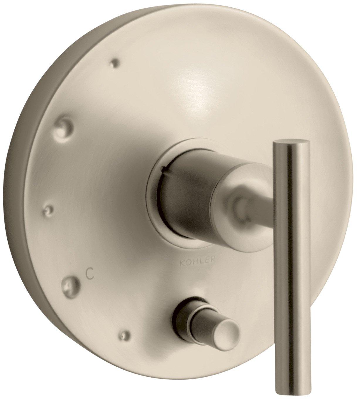 Kohler Purist rite-temp pressure-balancingバルブトリムレバーハンドル付き 6.50 x 6.50 x 6.02 inches K-T14501-4-BV 1 B002WZNR2O Vibrant Brushed Bronze Vibrant Brushed Bronze