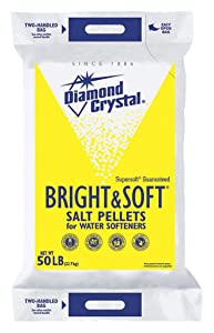 Diamond Crystal 50 lb. Water Softener Salt, Bright & Soft Series, Pellets, 99.8% Purity