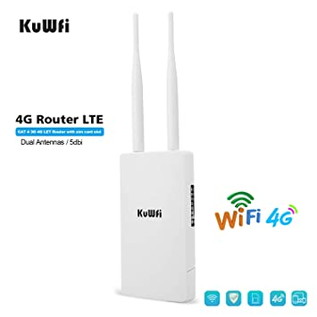 KuWFi Enrutador WiFi 4G SIM, Router inalámbrico CPE inalámbrico al ...