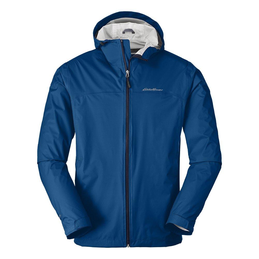 Eddie Bauer Men's Cloud Cap Lightweight Rain Jacket, True Blue Regular M