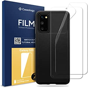 Caseology Vault Case and 2 Pack Film Screen Protector Bundle for Samsung Galaxy S20 - Matte Black