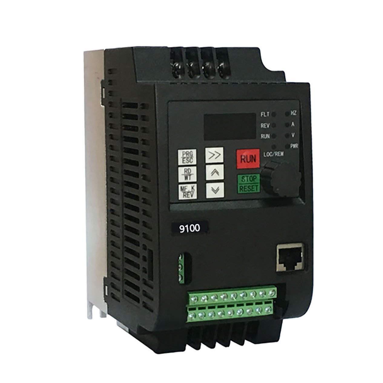 220V 2.2KW Single Phase Input 220V 3 Phase Output Frequency Converter Professional 9100-1T-00220-G 10A VFD Inverter