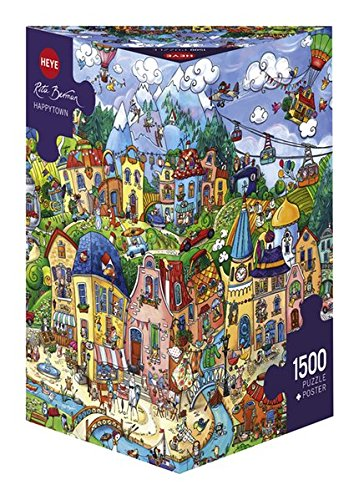 Heye Happytown 1500 Piece Rita Berman Jigsaw Puzzle