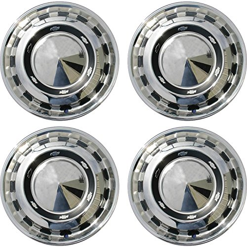 Eckler's Premier Quality Products 57-247664 Chevy Wheel Cover Set, Full, Bel Air,