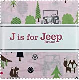 quilting fabric with 5 stars - J is for Jeep Girl 5