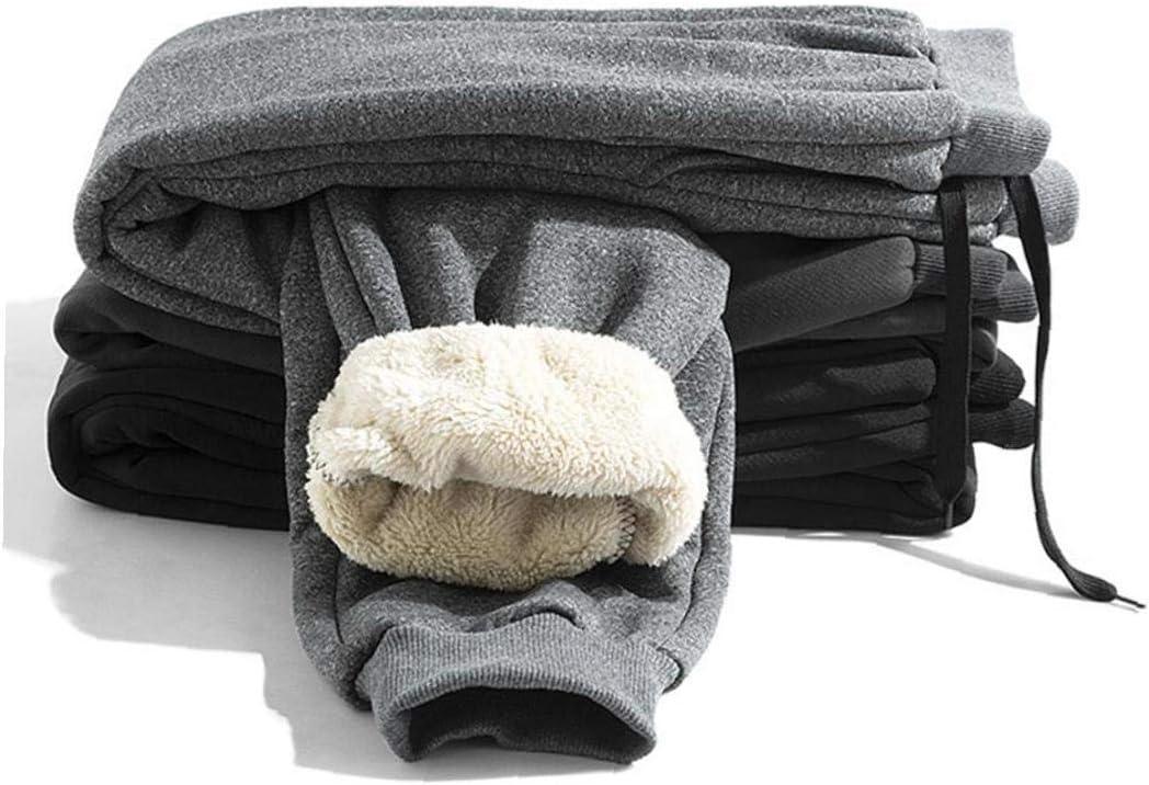Hotaden Inverno Uomo Sherpa Pile Pantaloni Sportivi in ??Corso Pantaloni da Jogging Grigio Cashmere Foderato Pantaloni Sportivi Sport Invernali per Gli Uomini M