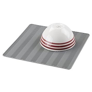 mDesign Abtropfmatte Silikon in grau – Spülablage (medium) für die ...