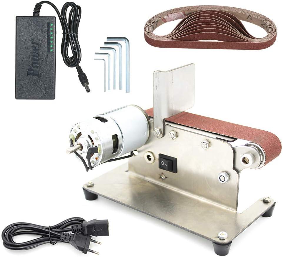 775 Motor KKmoon Bandschleifer Mini Elektrische Bandschleifmaschine Multifunktionsschleifer DIY Polierschleifmaschine