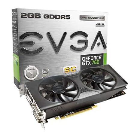 EVGA GeForce GTX 760 Superclocked ACX - Tarjeta gráfica (GeForce GTX 760, 4096 x 2160 Pixeles, NVIDIA, 2048 MB, GDDR5-SDRAM, 256 bit)