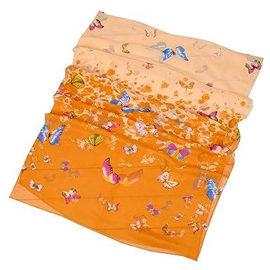 bc73dfab7d545 Happy Star® - Echarpe - Femme - Orange - Large  Amazon.fr  Vêtements et  accessoires