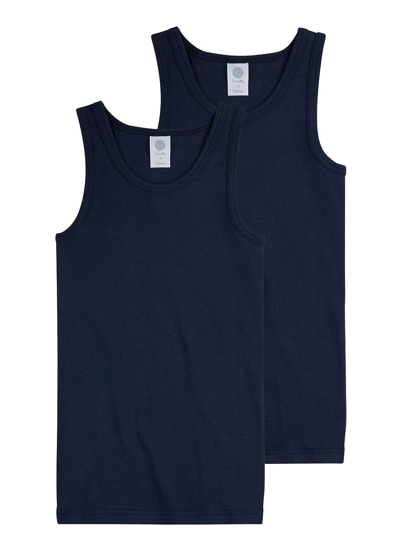 Sanetta Jungen Unterhemd im Doppelpack aus Bio-Baumwolle - Made in Europe