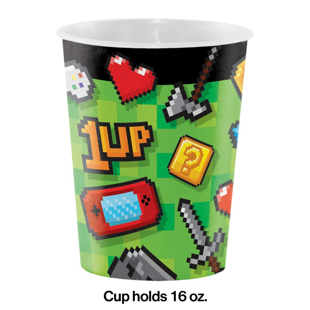 8 ct Video Game Party 16 oz Favor Cups