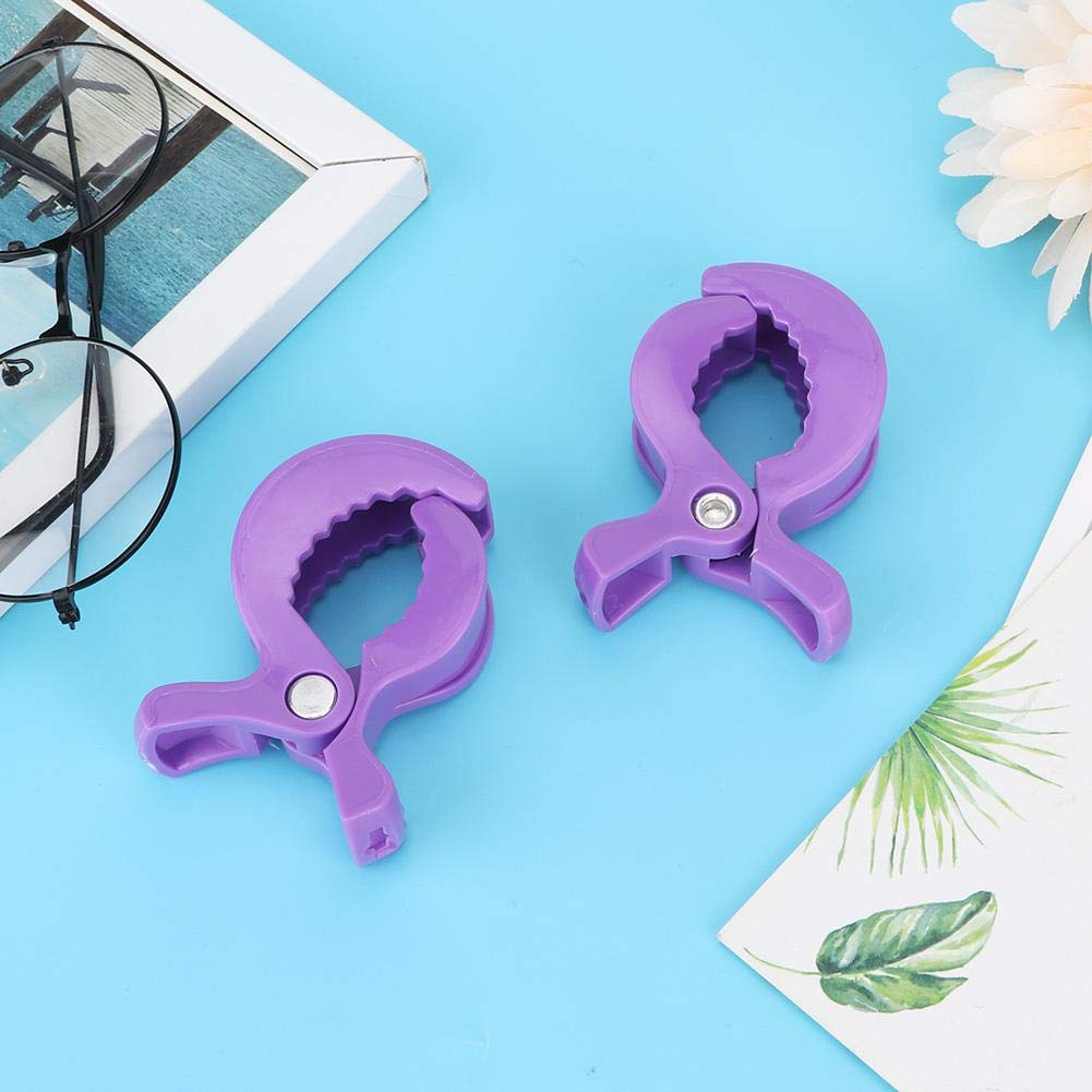 Purple Blanket Clips Clamp Stroller Seat Clip 10pcs Baby Pushchair Stroller Cover Plastic Fasteners Clips Blanket Security Clamps