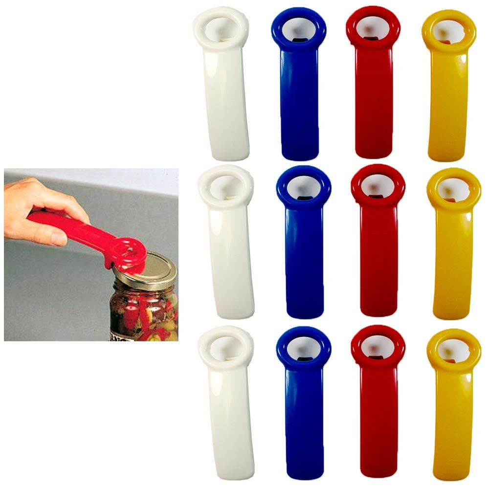 12 Jar Pop Opener Jarpop Jarkey Vacuum Rim Lid Lifter Top Stocking Stuffer Gift AllTopBargains