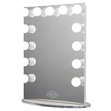 Vanity Girl Hollywood Infinity Mirror  Lighted  13 Bulb  Vanity Mirror with  Dimmer. Amazon com  Vanity Girl Hollywood Infinity Mirror  Lighted  13
