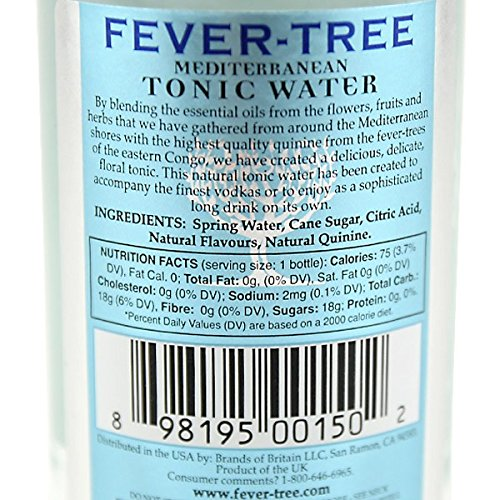 fever tree mediterranean tonic water   ml buy   uae grocery products