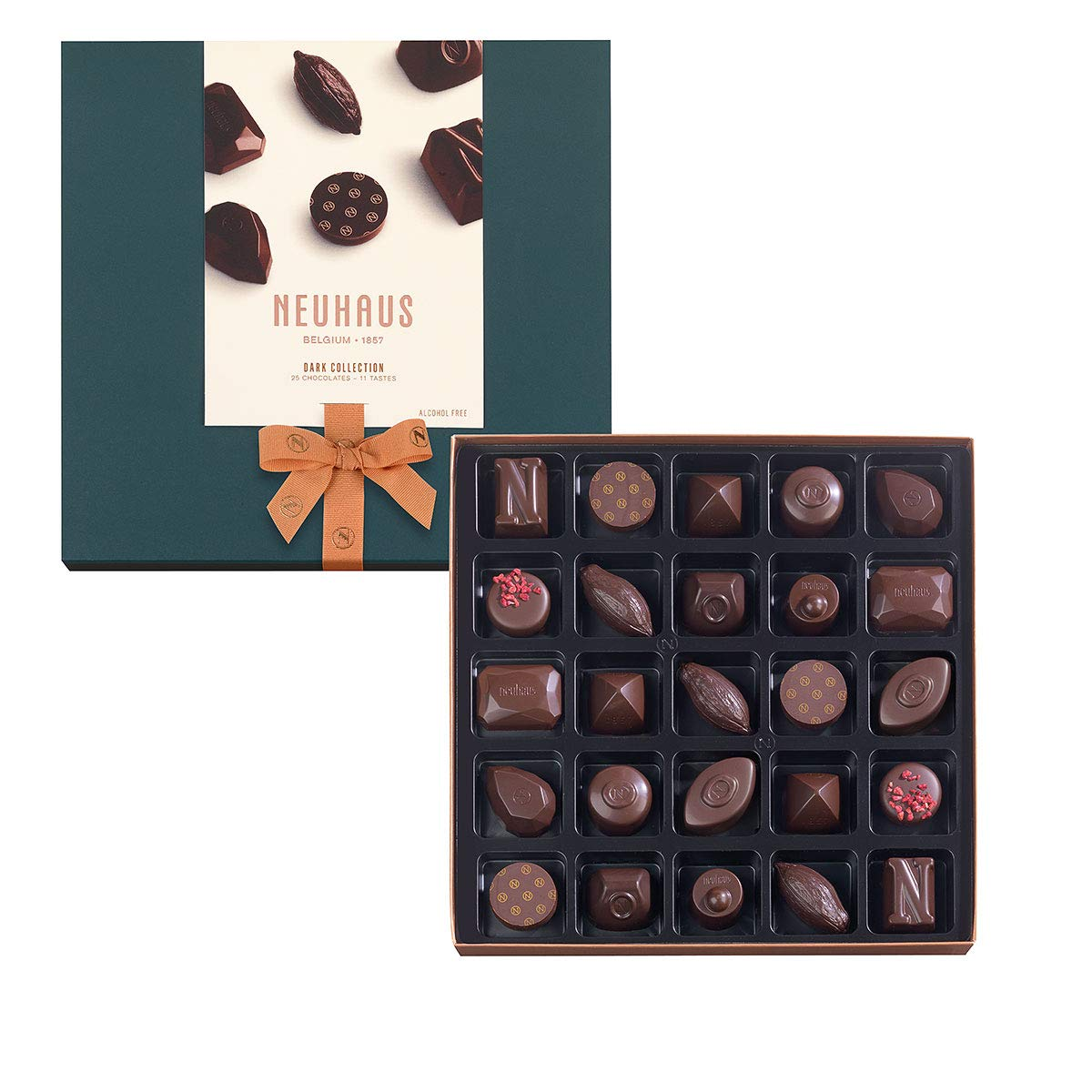 Neuhaus Chocolate Dark Collection, 25 Assortment Pieces, 9.28 oz by Neuhaus