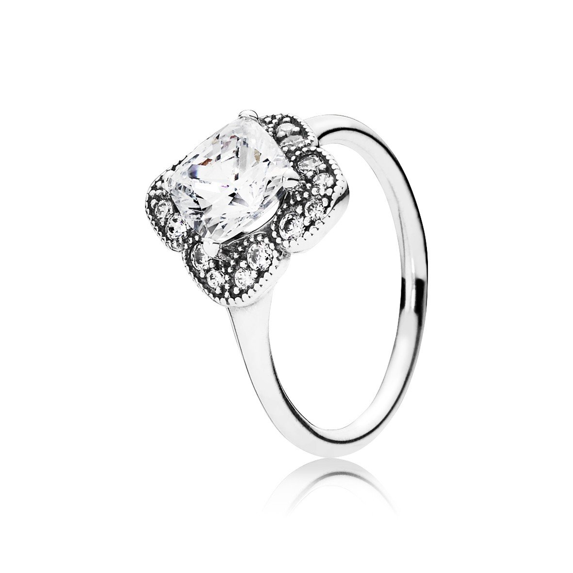 7cc208327 Authentic Pandora Fancy Ring in 925 Sterling Silver U.S. Size:9.5  190966CZ-60