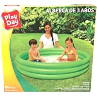 Play Day 51026 Alberca Piscina 3 Aros Inflable 1.65 m x 30 cm Color Verde