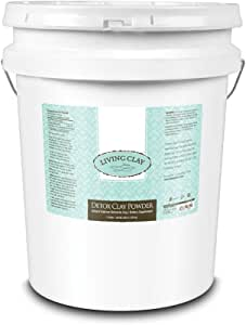 Living Clay Detox Clay Powder | All-Natural Bentonite Calcium Clay for Internal & External Deep Cleansing | Perfect for Mask, Bath or Wrap | 5 Gal