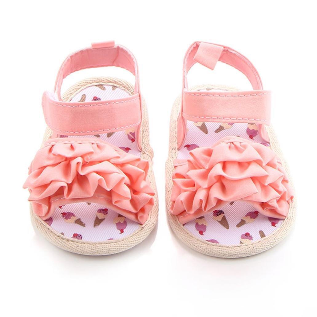 Chaussures Fille, IMJONO Bambin Chaussures de Fille Fleur Soft Sole antidérapant Baskets Des sandales