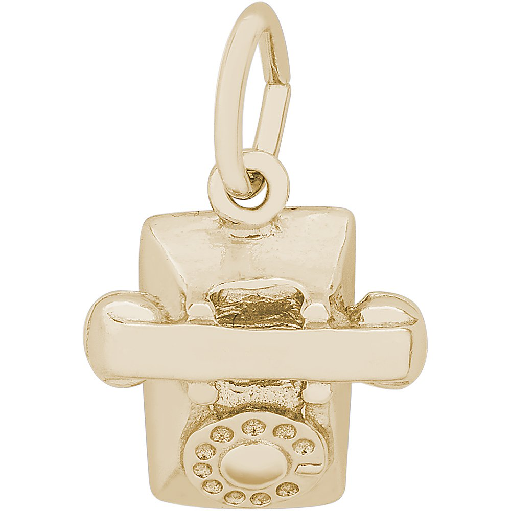 Rembrandt Charms 14K Yellow Gold Phone Charm (10.5 x 11.5 mm) by Rembrandt Charms (Image #1)