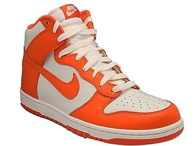 Men's Nike Dunk High Safety Orange Sail 317982 118 Sneaker (Men's 11,  Safety Orange