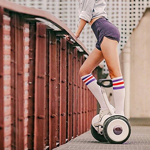 Xiaomiミニスマート電動二輪車バランススクーター立ち乗りスマートLEDレインボー充電タイプ 防水