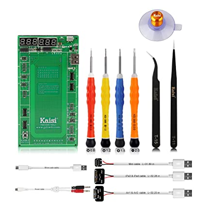 kaisi 9201 battery tester battery charger and activation board battery repair kit compatible for iphone 4 4s 5 5c 5s 6 6 plus 6s 6s plus 7 7 plus 8  battery tester wikipedia