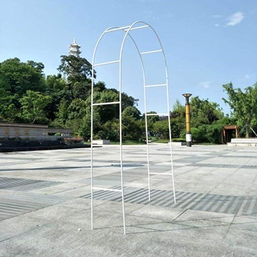Huldaqueen - Arco de Metal para Exteriores, Color Blanco, Ideal ...
