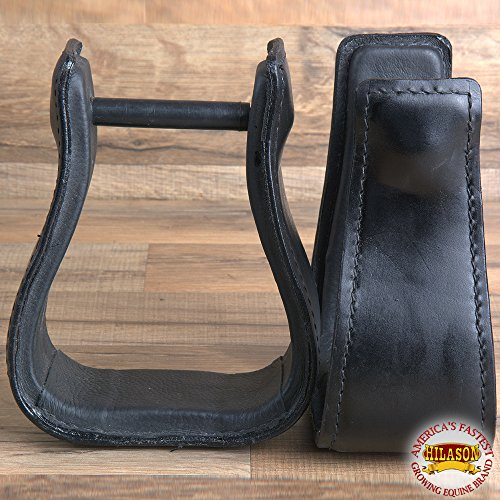 HILASON Western Leather Horse Saddle Stirrups Pair