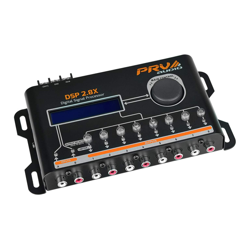 PRV AUDIO DSP 2.8X Crossover & Equalizer 8 Channel Full DSP Digital Signal Processor by PRV AUDIO