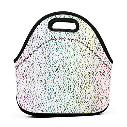 Tote Waterproof Outdoor Colorful,Gradient Downpour Figure in Large Spectrum Spotted Little Liquids Wet Work of Art,Multicolor,tote bag lunch bag for women