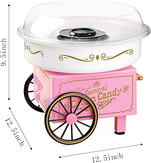 Honoen Pink Cotton Candy Machine, Grade Candy Floss Maker, Vintage ...